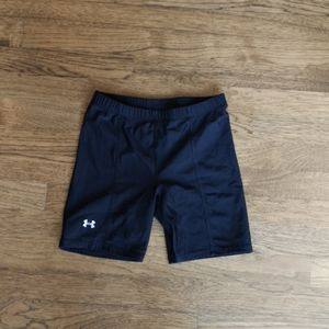 3/$25 Under Armour Black Spandex Girl's Shorts